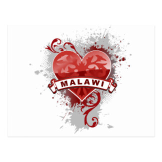 Amor Malawi Tarjeta Postal