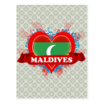 Amor Maldivas del vintage I Tarjetas Postales