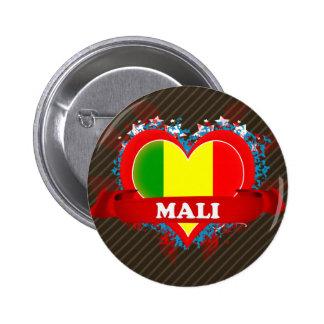 Amor Malí del vintage I Pin Redondo 5 Cm