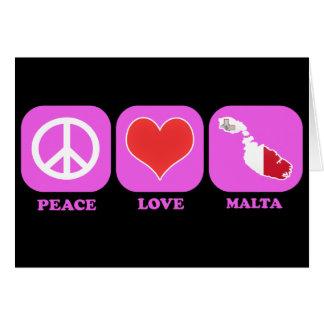 Amor Malta de la paz Tarjeta