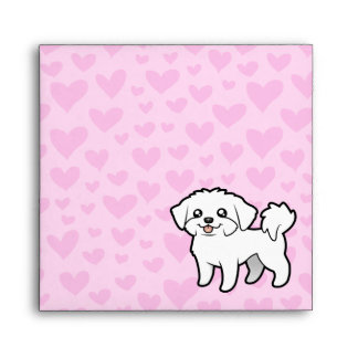 Amor maltés (perrito cortado) sobre