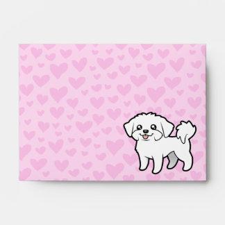 Amor maltés (perrito cortado) sobres
