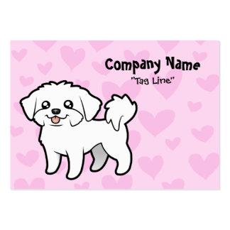 Amor maltés (perrito cortado) tarjetas de visita grandes