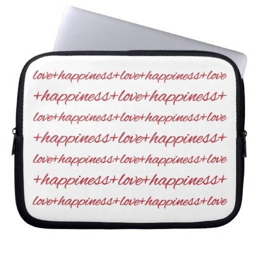 Amor + Manga del ordenador portátil de la felicida Funda Ordendadores