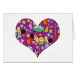 Amor maravilloso de la púrpura de los años 60 tarjetas