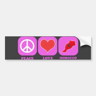 Amor Marruecos de la paz Pegatina Para Auto