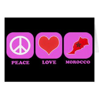 Amor Marruecos de la paz Felicitación