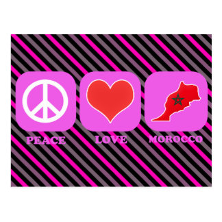 Amor Marruecos de la paz Tarjeta Postal