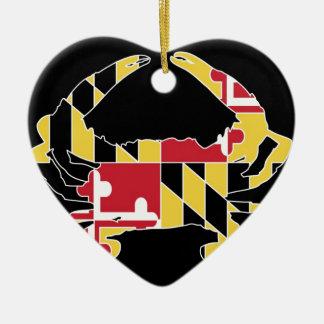 Amor Maryland Adorno Navideño De Cerámica En Forma De Corazón