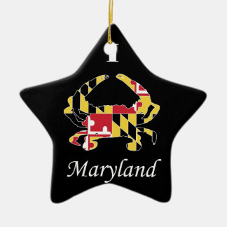 Amor Maryland Adorno Navideño De Cerámica En Forma De Estrella