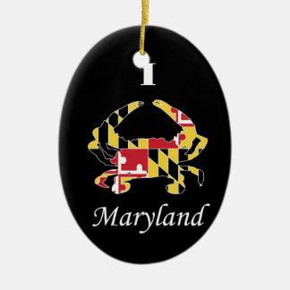 Amor Maryland Adorno Navideño Ovalado De Cerámica