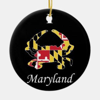 Amor Maryland Adorno Navideño Redondo De Cerámica