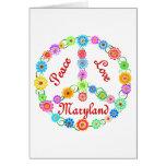 Amor Maryland de la paz Felicitacion