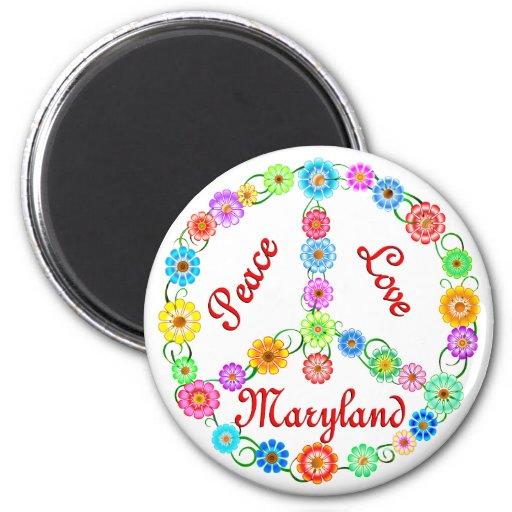 Amor Maryland de la paz Imán Para Frigorífico