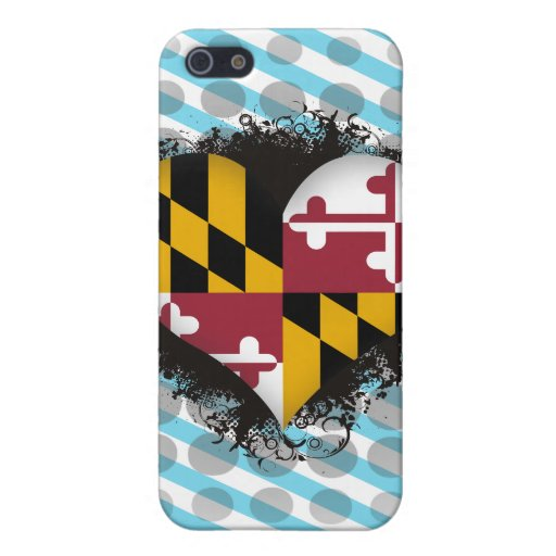 Amor Maryland del vintage I iPhone 5 Coberturas