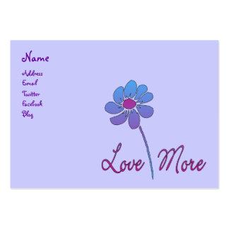 Amor más tarjetas de visita grandes