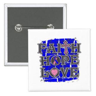 Amor masculino de la esperanza de la fe del cáncer pin