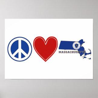 Amor Massachusetts de la paz Poster