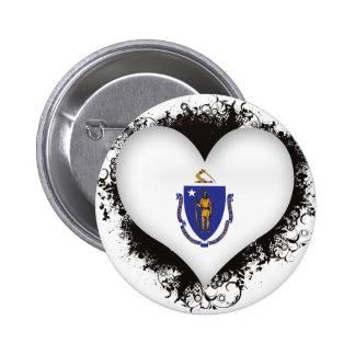Amor Massachusetts del vintage I Pins