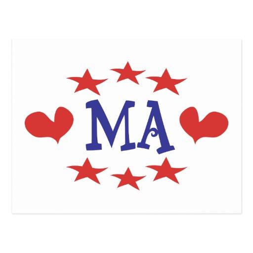 Amor Massachusetts - gracias mA y senador Brown Tarjeta Postal