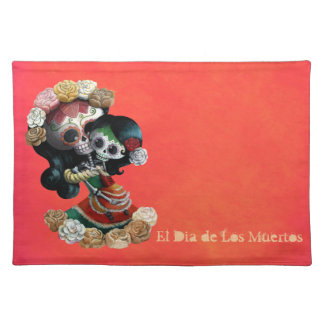 Amor maternal esquelético mexicano mantel individual