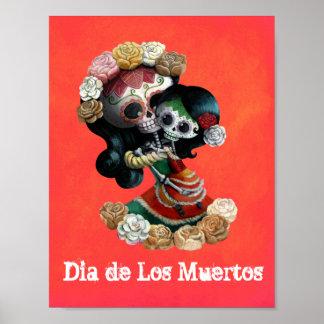 Amor maternal esquelético mexicano póster