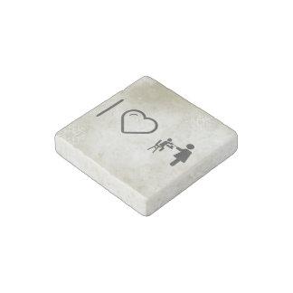 Amor maternal fresco imán de piedra