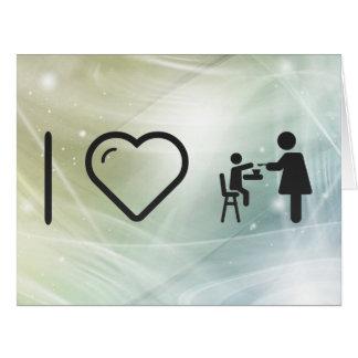 Amor maternal fresco tarjeta de felicitación grande