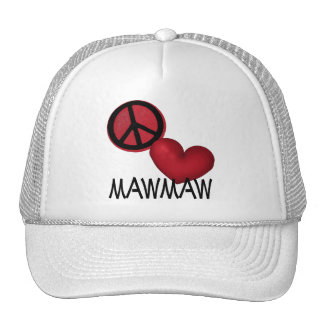 Amor MawMaw de la paz Gorras De Camionero