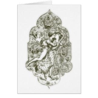 Amor medieval tarjeta
