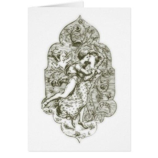 Amor medieval tarjeta de felicitación
