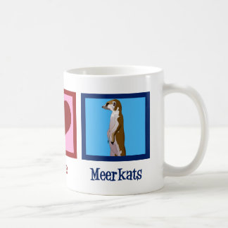 Amor Meerkats de la paz Tazas