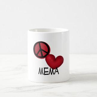 Amor Mema de la paz Taza De Café