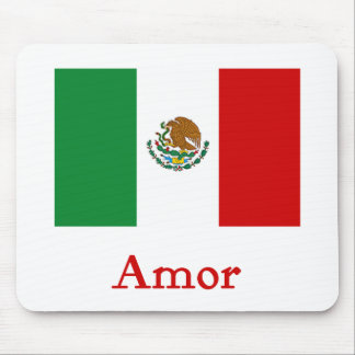 Amor Mexican Flag Mouse Pad