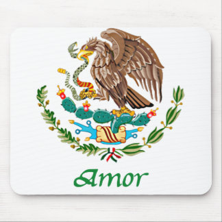 Amor Mexican National Seal Mouse Pad