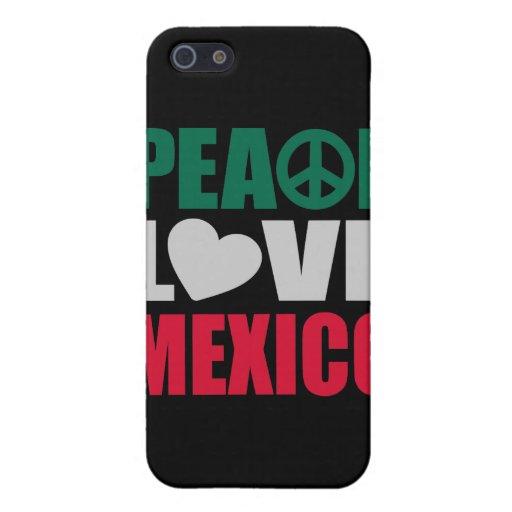 Amor México de la paz iPhone 5 Carcasas