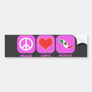 Amor México de la paz Pegatina Para Auto
