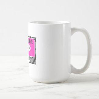 Amor mezclado de la cinta taza de café