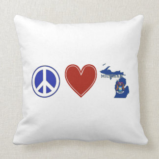Amor Michigan de la paz Cojines