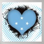 Amor Micronesia del vintage I Posters