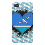 Amor Midway Islands del vintage I iPhone 4/4S Carcasas
