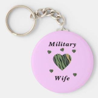Amor militar de la esposa llavero personalizado