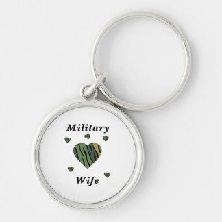 Amor militar de la esposa llaveros