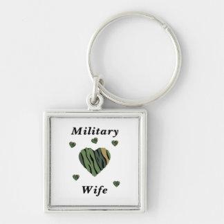 Amor militar de la esposa llaveros personalizados