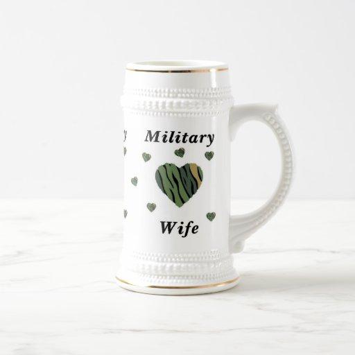 Amor militar de la esposa tazas de café