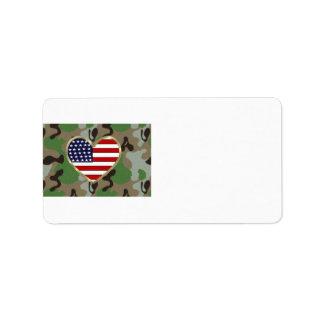 Amor militar etiqueta de dirección