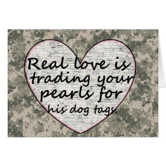 Amor militar tarjeta de felicitación