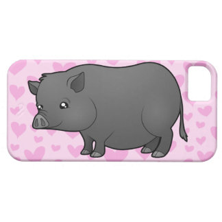 Amor miniatura del cerdo funda para iPhone 5 barely there