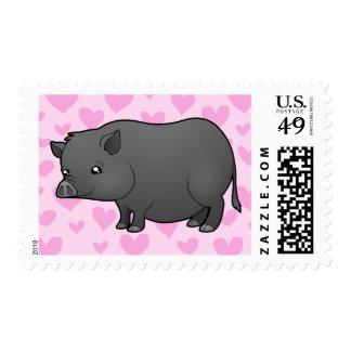 Amor miniatura del cerdo sello postal