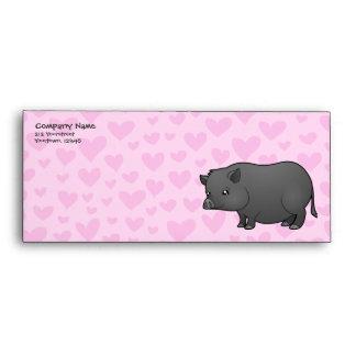 Amor miniatura del cerdo sobre
